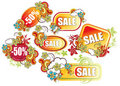 Set of visiting cards for advertising. Sale Royalty Free Stock Photo