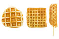 Set of waffles isolated on white background Royalty Free Stock Photo