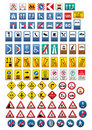 Set of warning signs Royalty Free Stock Photo