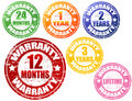 Set of warranty stamps Stock Image