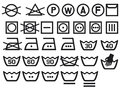 Set of washing symbols Royalty Free Stock Image