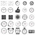 Set of watch icons Royalty Free Stock Photo