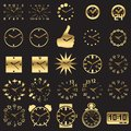 Set of watch icons Stock Images