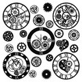 Set of Watches in the Victorian style, hand drawn. Vector