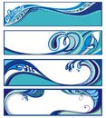 Set of water banners. Splash. Royalty Free Stock Images