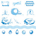 Set of water design elements Royalty Free Stock Image
