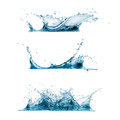 Set of water splashes three Stock Photography