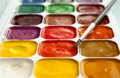 Set of watercolor paints Stock Photos