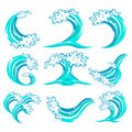Set of Wave Symbol Stock Photography