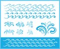 Set of wave symbols for design Royalty Free Stock Photography