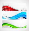 Set wavy banners abstract illustration Royalty Free Stock Photo