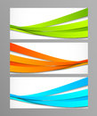 Set of wavy banners this is file eps format Stock Photo