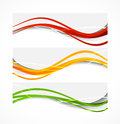 Set of wavy banners this is file eps format Royalty Free Stock Photos