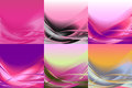Set of wavy banners horizontal colorful vector Royalty Free Stock Photo