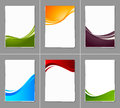 Set of wavy brochures this is file eps format Stock Images