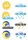 Set of weather climate icons Royalty Free Stock Photos