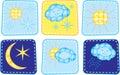 Set of weather icons Royalty Free Stock Photo