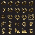 Set of weather icons Royalty Free Stock Photo