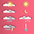 Set of 8 weather icons.