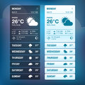 Set weather widgets template Royalty Free Stock Image