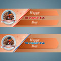 Set of web banner for Happy Thanksgiving