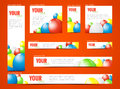 Set of  web banners with balloons Royalty Free Stock Photo