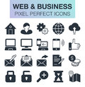 Set of web and business icons.