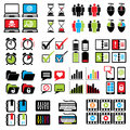 Set web computer icons vector of sign and symbols for design Stock Photo