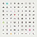 Set of web icons Stock Photos