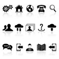 Set of web icons black on white background illustration Royalty Free Stock Image