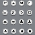 Set of web icons illustrated different in flat design style Royalty Free Stock Images