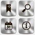 Set of web icons on metallic buttons vol this is file eps format Royalty Free Stock Photos
