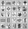 Set of web icons on a theme of schooling Royalty Free Stock Photo