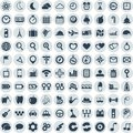 Set of web and mobile icons vector in flat design Royalty Free Stock Images