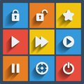 Set of web and mobile icons vector universal in flat design Stock Images