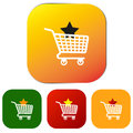Set of Web Shopping Buttons or Icons Royalty Free Stock Photo