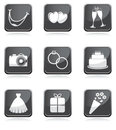 Set of wedding icons Royalty Free Stock Photography