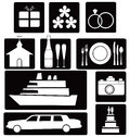 Set of wedding icons Royalty Free Stock Images