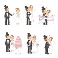 Set of wedding illustration Royalty Free Stock Photos
