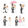 Set of wedding illustration Stock Image