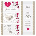 Set of wedding invitations and announcements part a Stock Photo