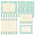 Set of wedding invitations with vintage background