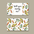 Set of wedding invitations. Wedding cards template with individual concept. Design for invitation, thank you card, save