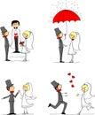 Sada skládající se z svatba fotografie vektor