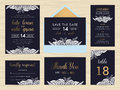 Set of wedding suite template decorate with white rose.