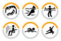 Set of Wellness and Spa Pictograms II Royalty Free Stock Image