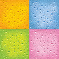 Set of wet surfaces Royalty Free Stock Photo
