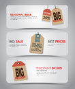 Set of white banners for sale design banner with retro tags vector illustration Stock Image