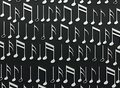 White music notes on black background abstract 3d illustration Royalty Free Stock Photo
