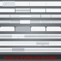 Set of whiteweb menu bars and buttons vector large white blank web illustration Royalty Free Stock Photography